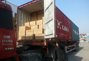 container shipped