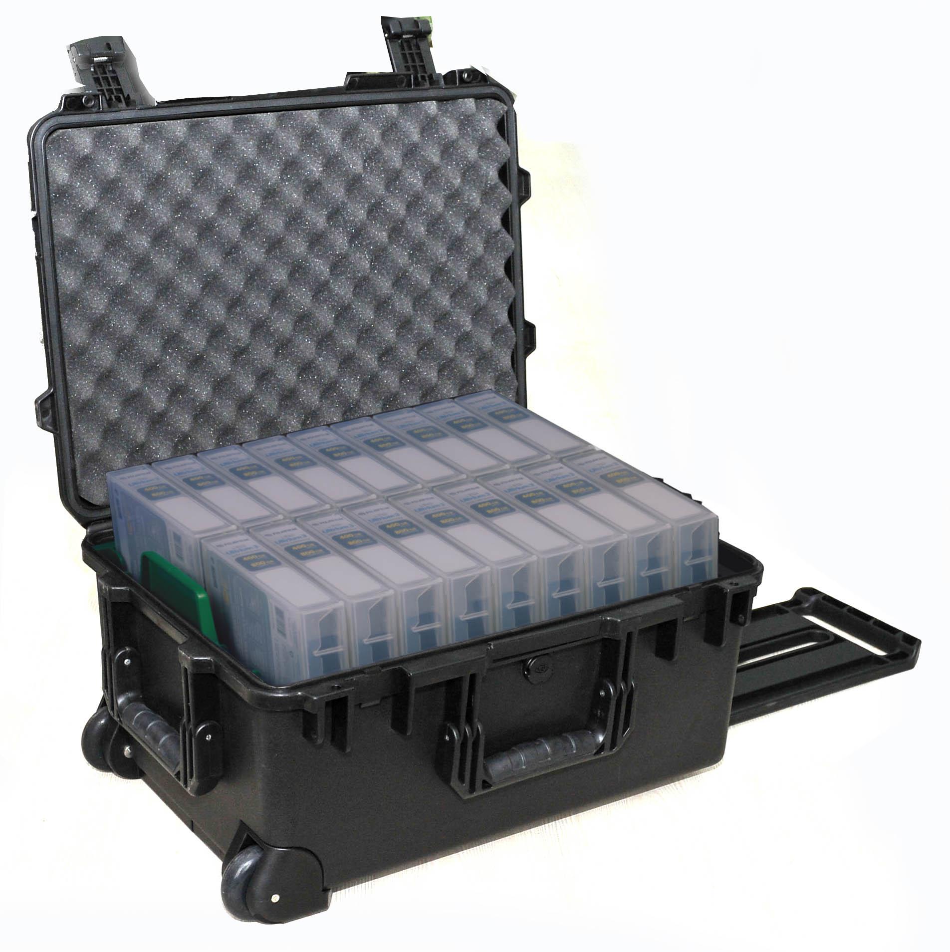 Custom case for data tape transport